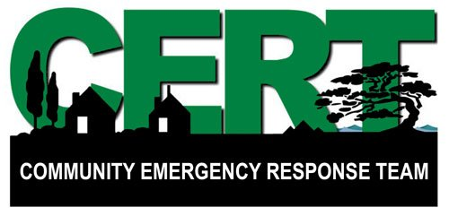 American Vinyl CERT Community Emergency Response Team Bumper Sticker (Logo fire Rescue)