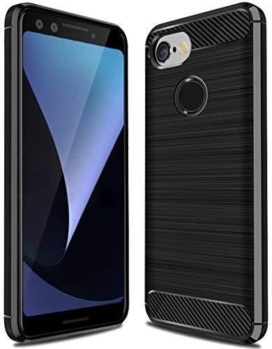 Sucnakp Google Pixel 3 Case,Pixel 3 Case, TPU Shock Absorption Technology Raised Bezels Protective Case Cover for Google Pixel 3 Case (TPU Black)