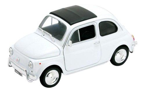 Fiat 500, weiss, Modellauto, Fertigmodell, Welly 1:24