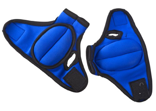 Prosource Fit Weighted Gloves, Pair of 2 lb. Neoprene Hand Weights for Cardio Workouts, Kickboxing, MMA, Aerobics and Sculpting Arms, Black