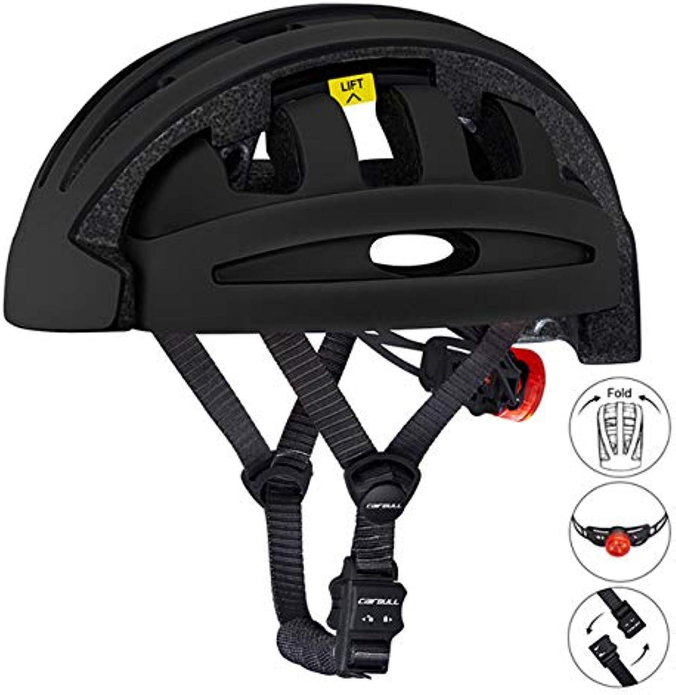 DGHHUFAHF Casco Casco da ciclismo pieghevole con casco da bicicletta pieghevole portatile addensabile di sicurezza Certificato CE da città