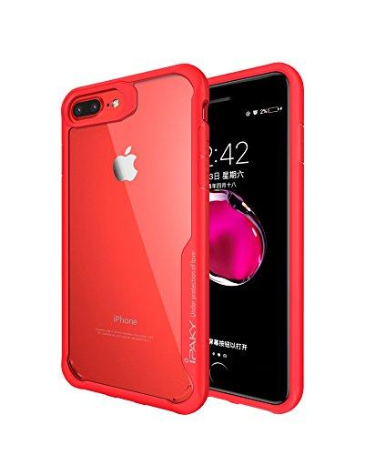 Custodia protettiva ad alta resistenza Survival per iPhone 6/6s & iPhone 7 & iPhone 8 con cover posteriore trasparente/TPU Bumper + Anti-Scratch PC trasparente