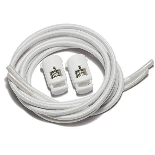 iBungee Laces (Elastic No Tie Shoelaces) (White, 30-Inch)