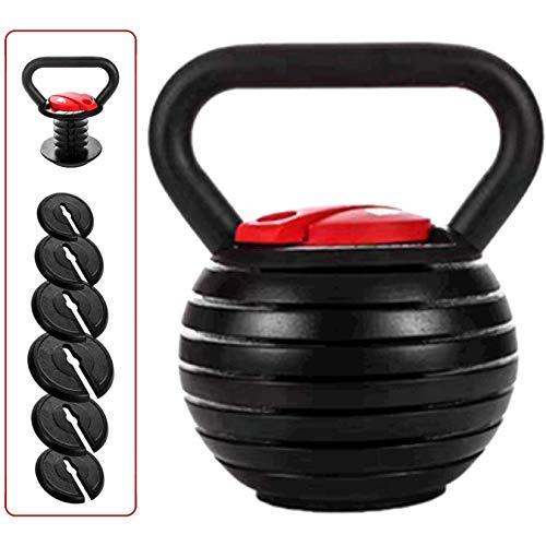 AYCPG Conjunto de Peso de Kettlebell Ajustable, Kettlebell 10 15 20 25 30 35 40 Libras Un Gran Asistente para la Oficina en el hogar Fitness lucar