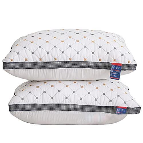 Almohadas Suaves para Dormir,Paquete de 2, Almohadas Rellenas de Microfibra de Poliéster Alternativo de Plumón de Apoyo, Almohada Hipoalergénica Lavable en La Lavadora 48x74cm,950g