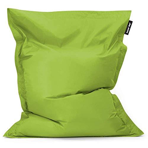 Bean Bag Bazaar - Verde Lima, 180cm x 140cm, Puf Gigante para Interiores y Exteriores – Puff Enorme, Ideal para usar en el Hogar y el Jardín