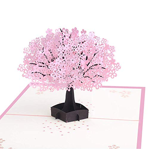 3D Christmas Cards Pop Up Greeting Holiday Cards Gifts for Xmas/New Year/Birthday Card, Tree Card, Nature Card (Tree)