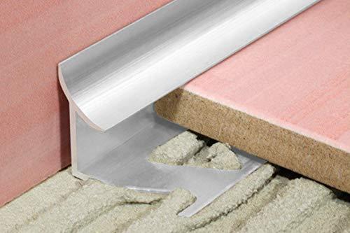 1 Stück | Rand Fliesenleiste | Alu | rostfrei | Effector | 2000x22x9mm | A96 | silber