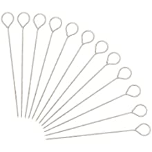 Package includes: 30Pcs reusable trussing needles 6 inches long, thick 2mm. Made of sturdy stainless steel for trussing turkey, goose and poultry. Also perfect for barbecue, bbq, shish kabob kebab, fruit sticks. Can be used with or without twine. Goo...