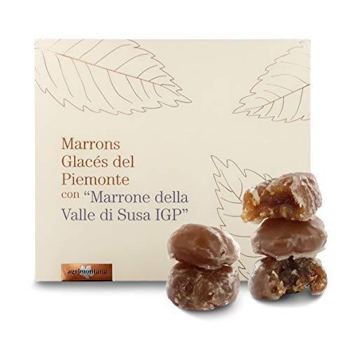 Agrimontana Elegante Scatola Regalo Con 8 Marron Glacé Valle Di Susa IGP, 150 Grammi