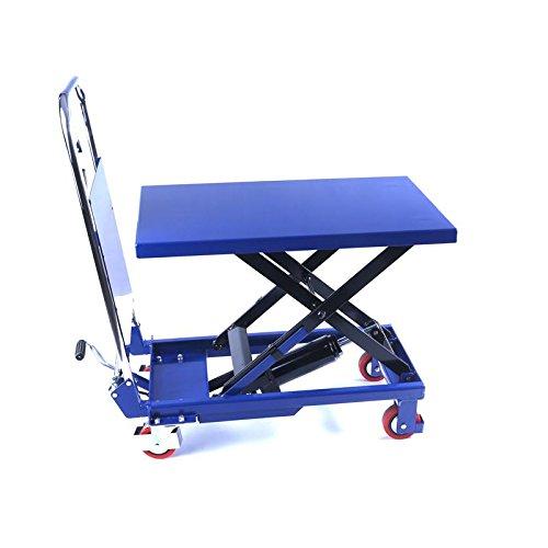 Hydraulischer Hubtisch 150 kg - Hubtischwagen - Hubstapler klappbar - Hubhöhe 740 mm