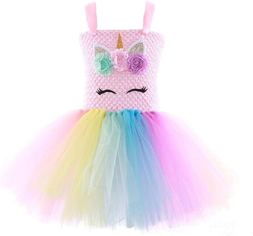 ocarseii Girls Unicorn Dress Birthday Present for Kids Tutu Dress