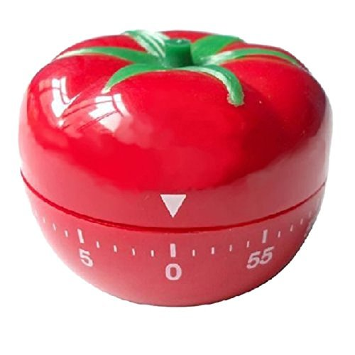 Haodou Temporizador de cocina digital de animados de verduras y Fruta de 60 minutos Reloj de cuenta atrás (Tomate)