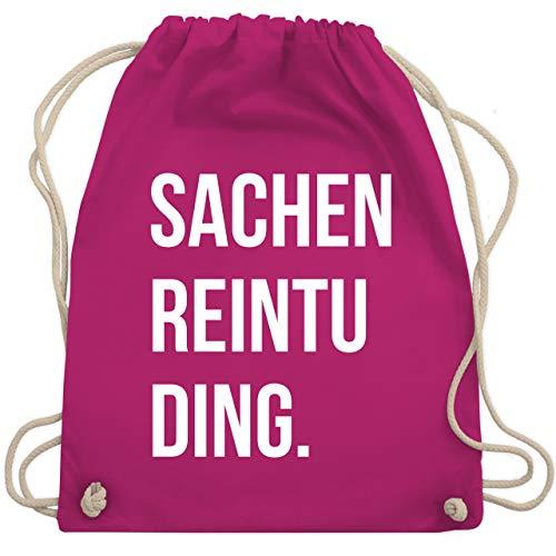 Shirtracer Festival Turnbeutel - Sachenreintuding - Unisize - Fuchsia - turnbeutel bedruckt - WM110 - Turnbeutel und Stoffbeutel aus Baumwolle