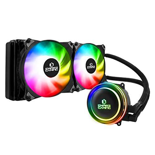 Empire Gaming – Guardian G-V20 Wasserkühlung AIO PC Gamer – CPU Flüssigkühlung ARGB 3 Pins 5 V Heizkörper 240 mm – Lüfter 2 x 120 mm PWM leise – Intel und AMD