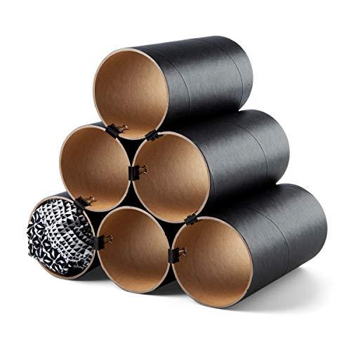 corpus delicti :: Loop – das Flexible Schalregal aus Hartpapier - Ordnungssystem und Organizer für Kleiderschrank und Regal zur Aufbewahrung von Tüchern, Schals (6 Hülsen schwarz) (79.0)
