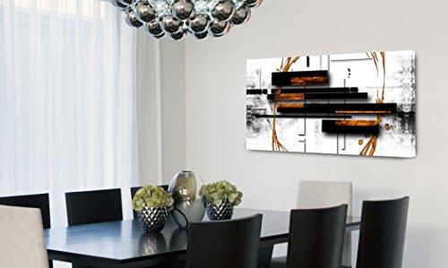 Quadro Decorativo Para Sala Abstrato Preto e Branco 55x100