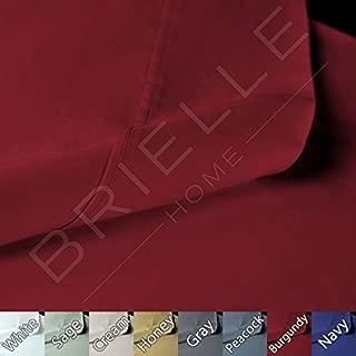 Brielle 100-Percent Sateen Modal from Beech Sheet Set, Twin, Red