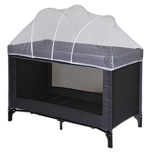 Nattou Moskitonetz für Reisebett, Insektenschutz, 100% Polyester, 120 x 60 x 35cm, Weiß