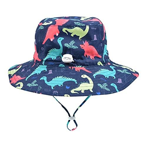 Congci Sonnenhut für Kinder Sonnenhut Gedruckte verstellbare Strandhüte Outdoor Schwimmen Strand Pool Hut Kinder Breite Krempe Kinnriemen Hut Fischerhut