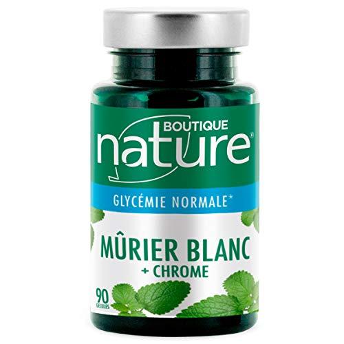 Boutique Nature - Complément Alimentaire - Murier Blanc + Chrome - 90 Gélules Végétales - Contribue au maintien d'une glycémie normale