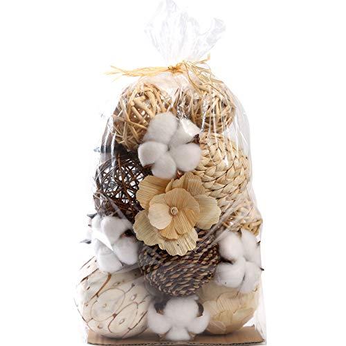 Ciroases Decorative Balls Assorted Spherical Rattan Twigs Wicker Balls Cotton for Bowl and Vase Filler Balls Spheres Orbs Filler Centerpiece Home Decor …