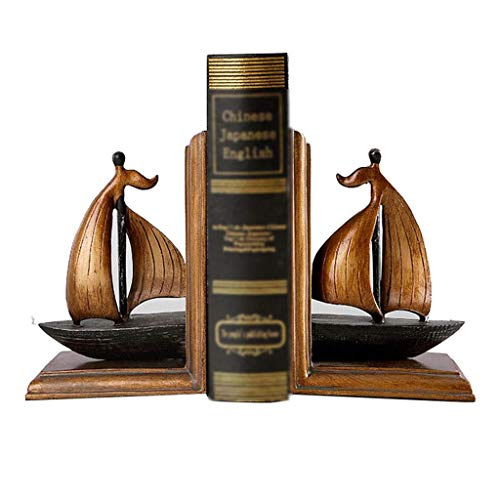 OH Oficina Adornos Disfraces Libro Finalizar Resina Resina Sookends Sailing Sookends Estudio Hogar Decoraciones Accesorios de oficina/Marrón / 12 * 9 * 17cm
