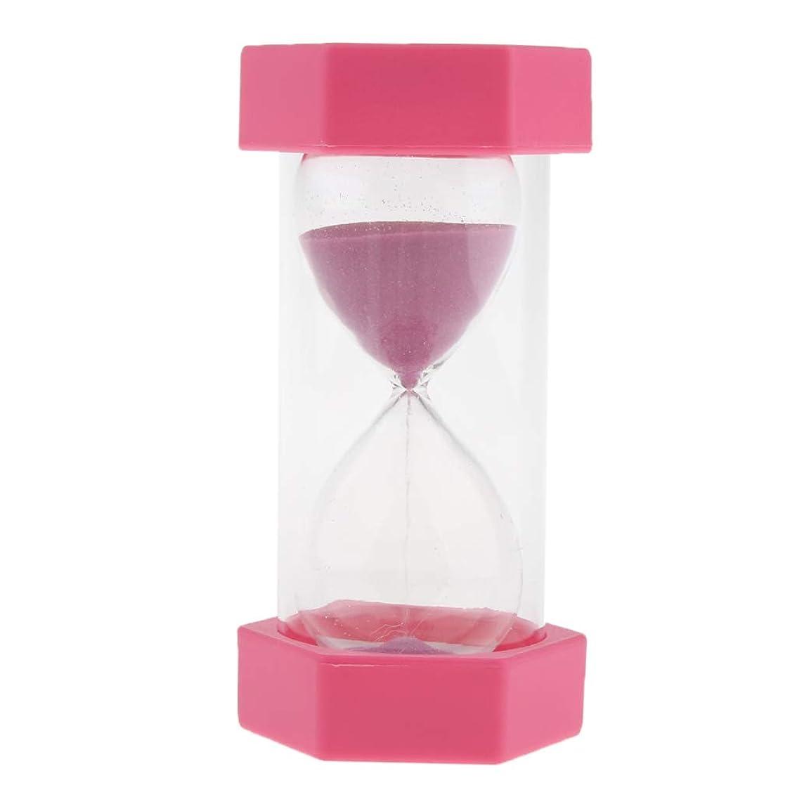 生産的プリーツ泥沼B Blesiya 全6色 10分 砂時計 サンドタイマー 時間のチェック シンプルな デザイン - ピンク