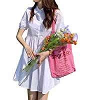 MengFanレディース シャツワンピース 夏 半袖 フレアワンピース カジュアル ドレス 体型カバー 大きいサイズ Aライン マキシワンピース シンプルホワイトT2