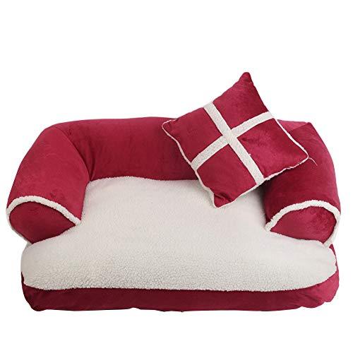 RRQS Cat Bed Compleet uitneembare en wasbare bank Nest Zwinger kat strooi huisdieren herfst en winter warm huisdier nest hond pad