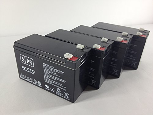 SPS Brand 12V 7Ah Replacement Battery for APC SYBTU1-PLP UPS Battery (4 Pack)