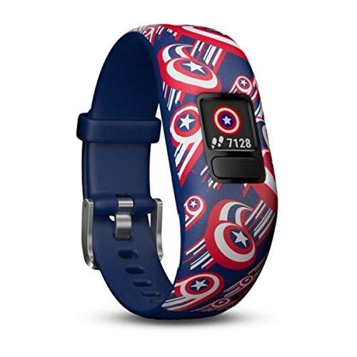 Garmin Vívofit Jr. 2 - Activity Tracker for Children, Captain America (Elastic Band), Age 6+