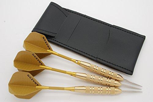 Bullydarts 23g Messing Darts Set, Gold Amazon Dart Flights, Aluminium Stiele & Fall