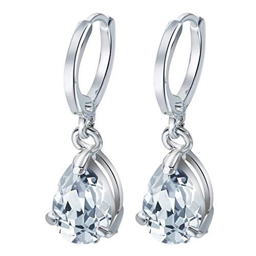 Peigen Sparkling Silver Stud Earring Set,Luxury Temperament Diamond Geometric Circle Earrings Personality Earrings