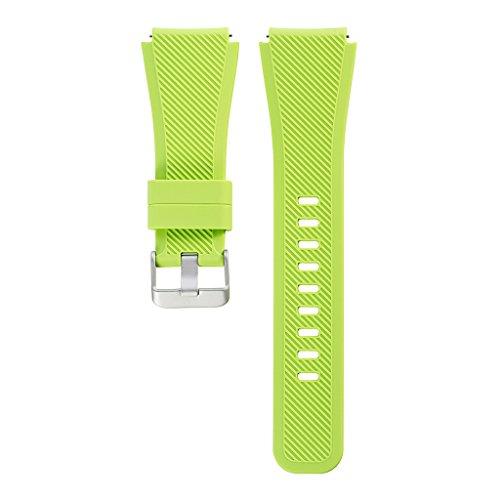 scastoe brazalete l tamaño de banda correa de reloj de pulsera de silicona para Samsung Gear S3frontera CLASSIC-LIGHT verde