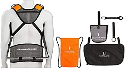 Piggyback Rider Scout Model – Standing Child Toddler Carrier Backpack for Family Events, Hiking Trails, Camping, Travel, Amusement or Theme Parks and More.