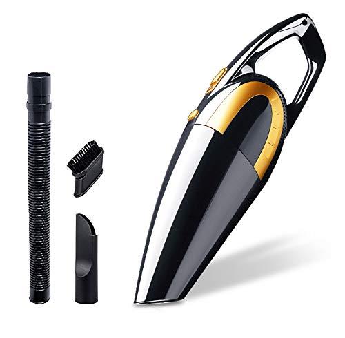 Aspirateur de voiture, mini aspirateur puissant portatif spécifique à la voiture 12v (Couleur : NOIR)