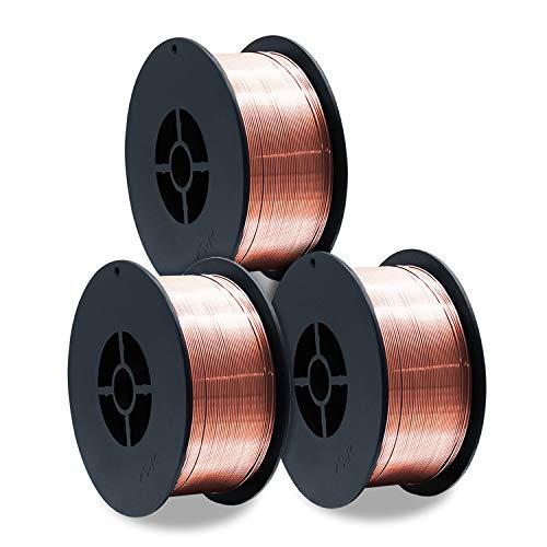 3 Stück D100 Rolle MIG MAG 1 kg Gasschutz Schutzgas-Schweißdraht Stahl ER70S-6 / Größe 0,8 mm/universell einsetzbar