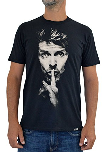 David Bowie Faces T-Shirt Donna Made in Italy Serigrafia Manuale