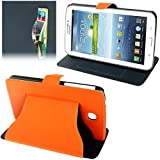 ALLSHOPSTOCK (#52) Fabric Texture Ultra Thin Leather Case for Compatible with : Galaxy Tab 3 (7.0) /...