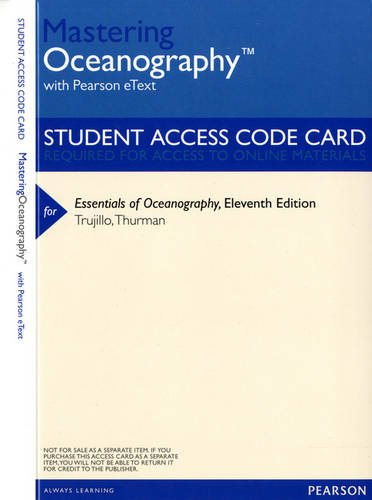 MasteringOceanography with Pearson eText -- ValuePack Access Card -- for Essentials of Oceanography