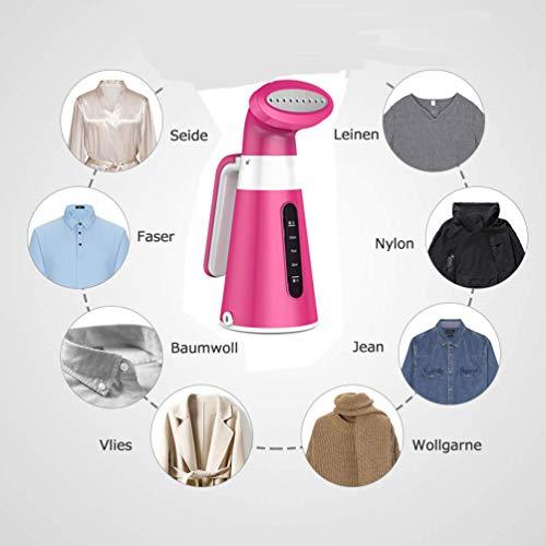 XJAXY Beweegbare stoommachine voor kleding, kledingstuk stof handstoom/anti-drip-design, ijzeren stoommachine voor verticale en horizontale beugels eenvoudig te bedienen, snel verwarmen
