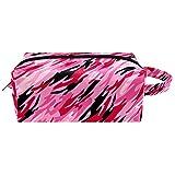 Bolsa de Maquillaje para niños Militar de Camuflaje Rosa Accesorio de Viaje Neceser Pequeño Bolsas de Aseo Impermeable Cuero Cosmético Organizadores de Viaje 21x8x9 cm