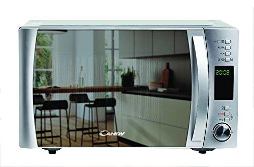 Candy CMXG25GDSS - Microondas con grill y cook in app, 25 L, 40 programas automáticos, 900 W / 1000 W, color espejo