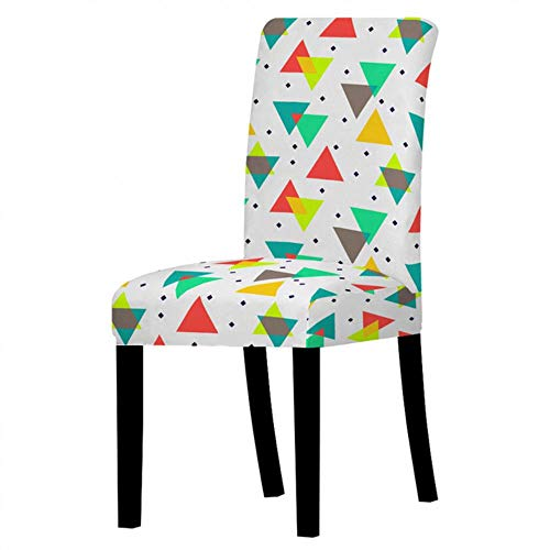 Ltong Universal Nordic Marble Elastic Chair CoverSpandex Stretch Chair Cover Seat Slipcovers for Dining Room,4