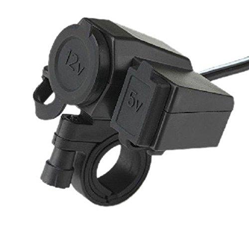 Mintice™ Motorrad Steckdose Zigarettenanzünder Wasserdicht Kabel KFZ 12V 24V USB Port
