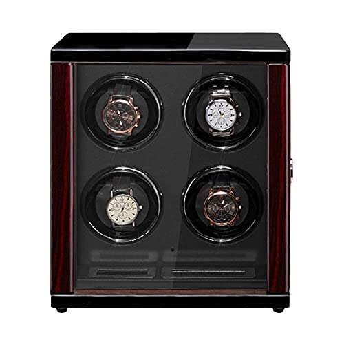 WBJLG Avvolgitore per Orologio Automatico in Legno Illuminazione a LED Integrata Schermo Display LCD Cuscini per Orologi Regolabili per Orologi da Donna da Uomo