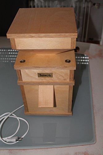 hawos Billy 1 Elektrische Getreidemühle aus Birke Multiplex mit 360W Leistung der Firma hawos Kornmühlen GmbH (vormals Billy 100)