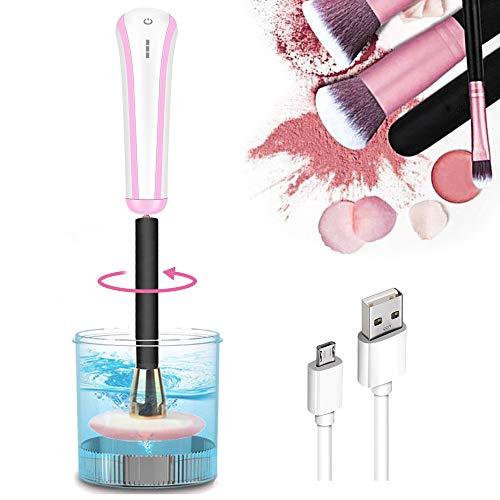 Wesho Limpiador de Cepillo de Maquillaje - herramienta profesional de limpieza de pinceles de maquillaje Ajustes de intensidad de tres niveles Máquina de limpieza automática de cepillos cosméticos