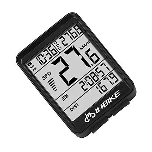 shunbang yuan Cuentakilómetros inalámbrico velocímetro de la Bici del odómetro Digital portátil...